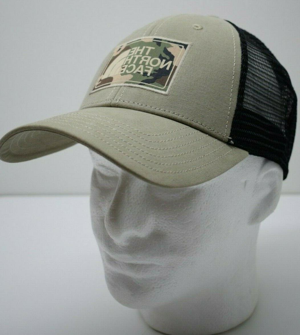 The North Face Mudder Trucker Hat Dune Beige/Black Camo Logo