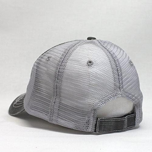 Vintage Year Washed Low Profile Mesh Adjustable Trucker Baseball Cap