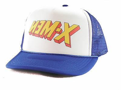 X-Men hat comics Trucker Hat mesh hat snapback hat royal blu