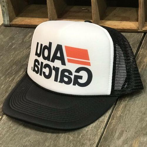 Rod Reel Bass Trout Abu Garcia Fishing Trucker Hat Vintage 80s Style Snapback