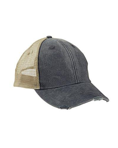 adams mens 6 panel pigment dyed distressed