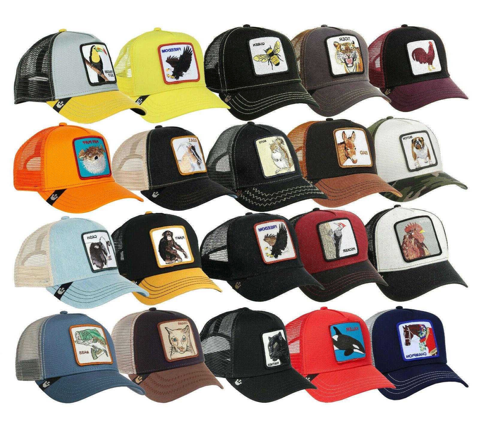 animal farm trucker hat snapback mesh cap