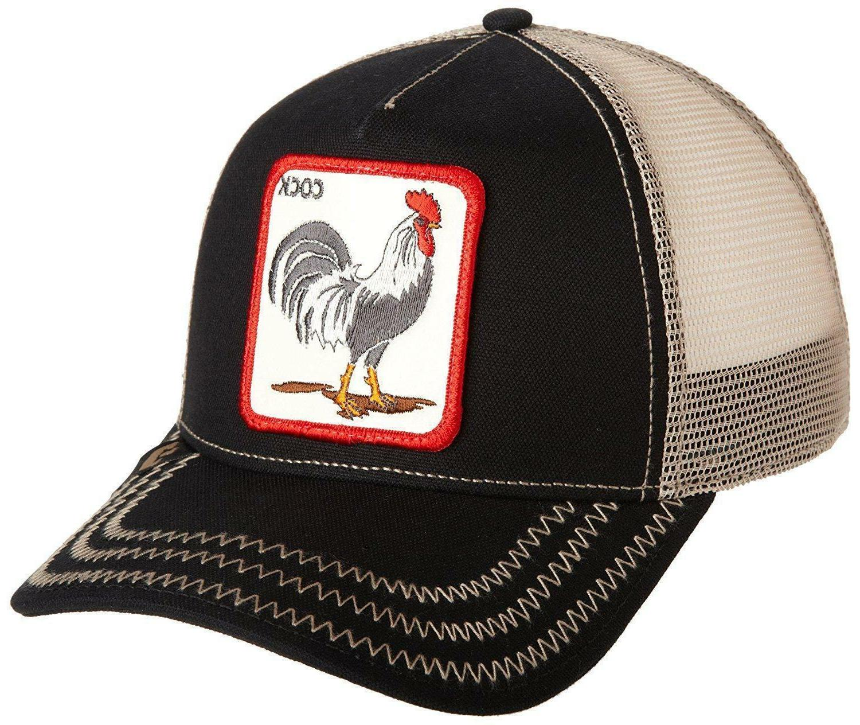 "Goorin Bros. Animal Trucker Hat rooster All BLACK/Tan/""Cock"""