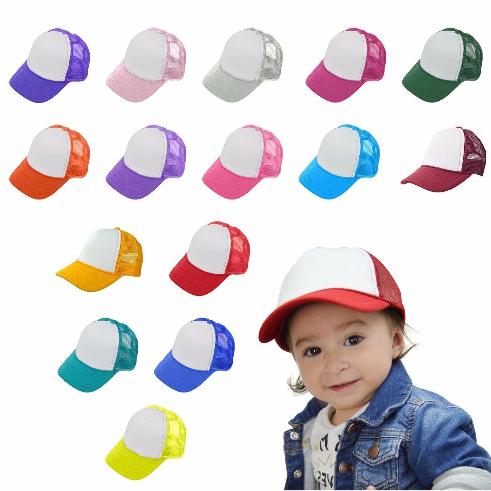 baby girls boys toddler cap trucker hat