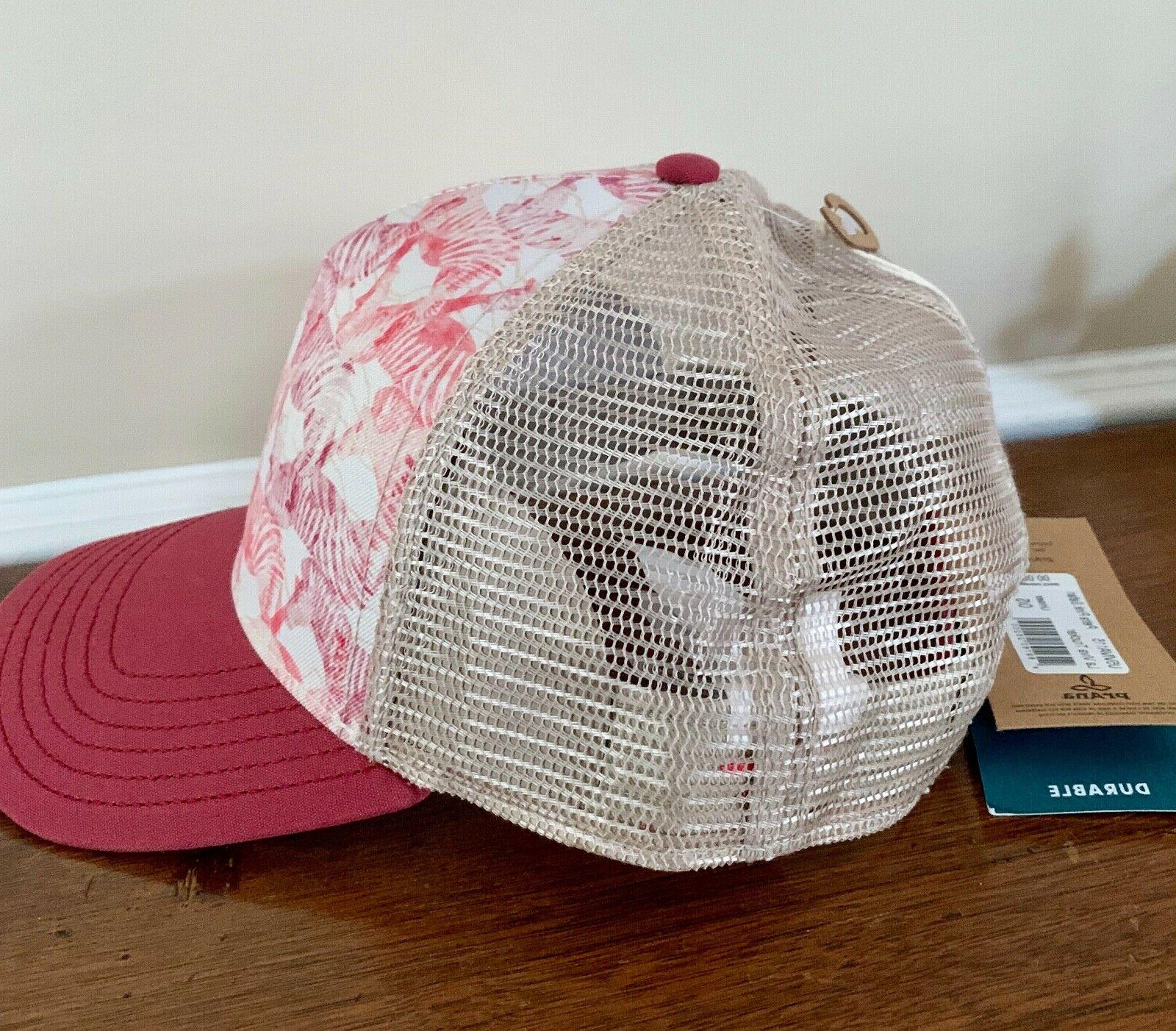 prAna Baseball Hat Petra Pink Safari Women La Viva Trucker