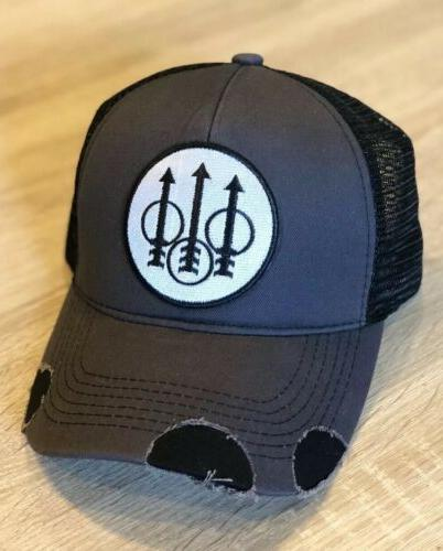 beretta logo trucker hat pro gun embroidered