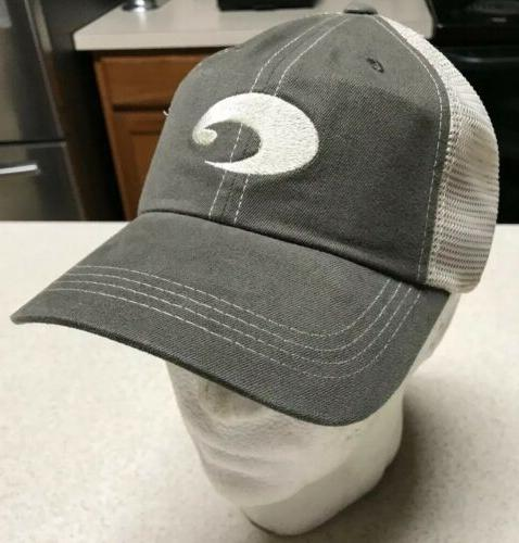 COSTA Logo CAP HAT Moss Stone Fishing
