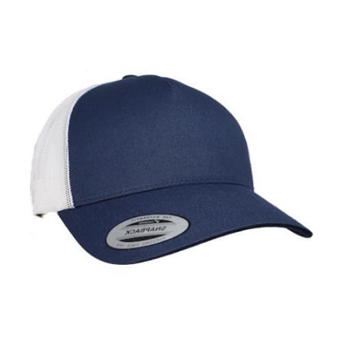 big size navy white trucker mesh cap