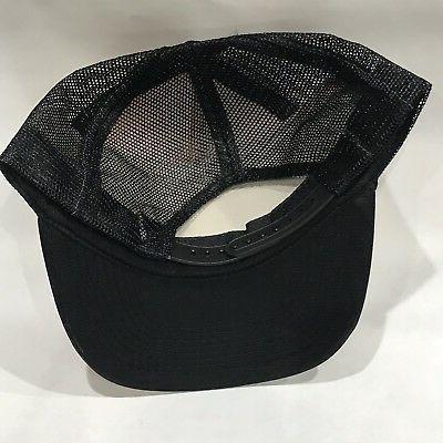 Black Hat Vintage 80's Snapback Black