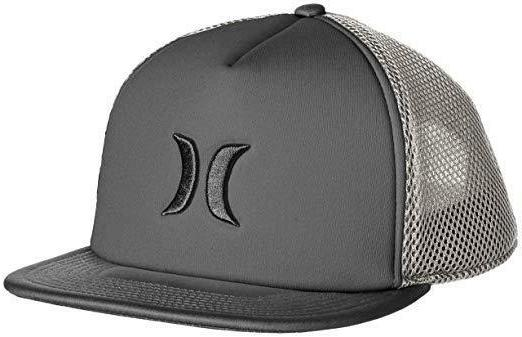 HURLEY BLOCKED 2.0 TRUCKER HAT cap gray surf adjustable snap