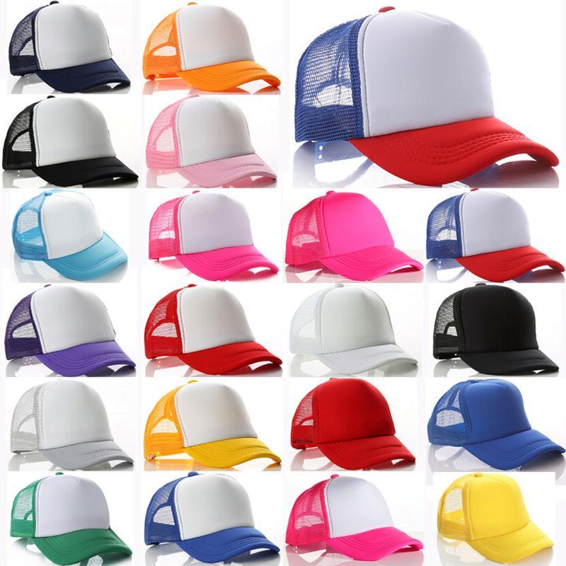 Trucker Hat Mesh Baseball Cap Kids Boys Girls Snapback Outdo