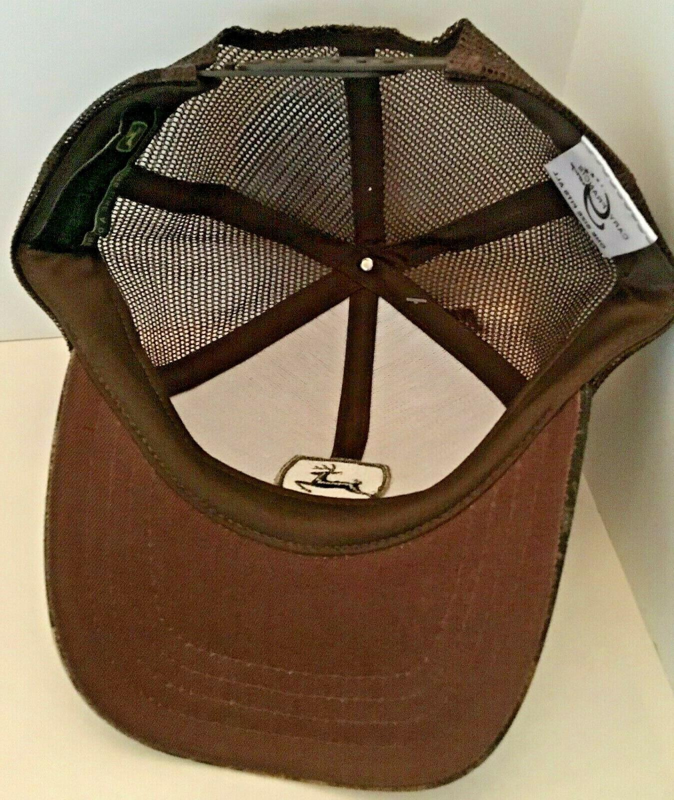 John Deere Brown / Green Trucker Mesh Snapback Hat