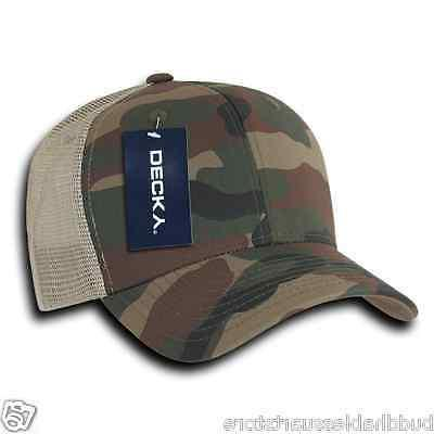 Decky Camouflage Curve Constructed Trucker Hats Snapback