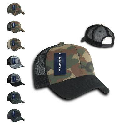 camouflage curve bill constructed trucker hats caps