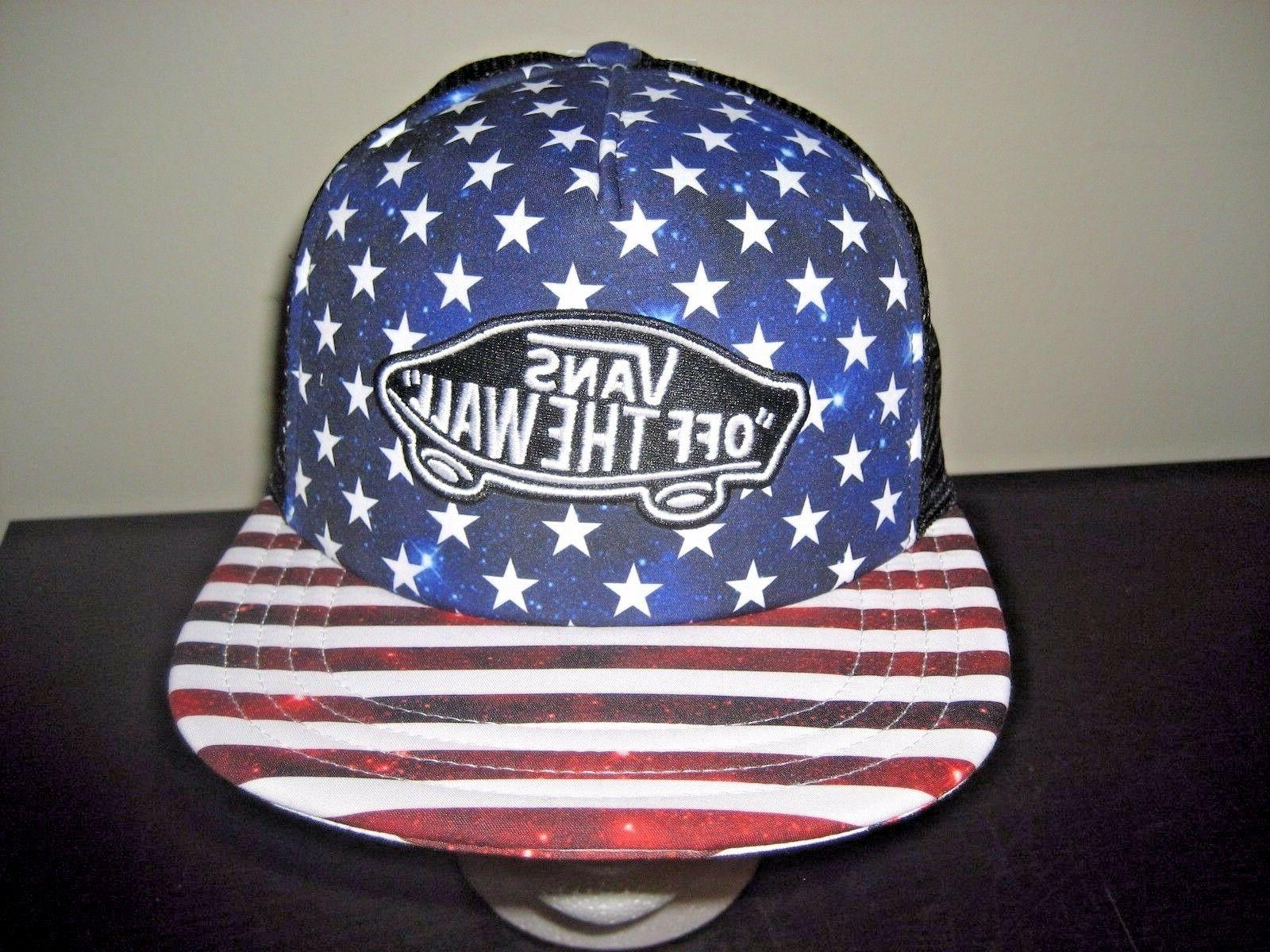 classic patch stars and stripes blacktrucker snapback