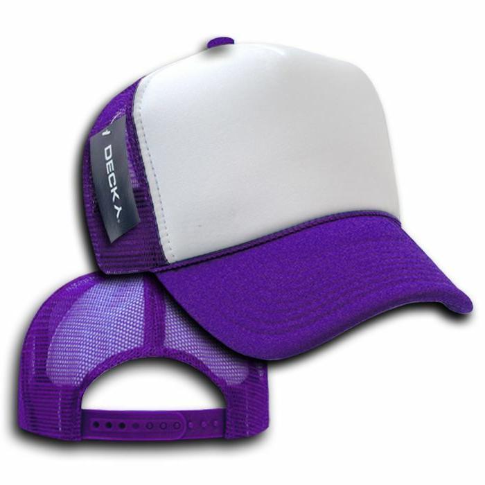 Decky Classic Trucker Hats Caps Mesh Tone Blank Plain Snapback