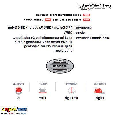 FLEXFIT Snapback Hat 6006 6006W Yupoong