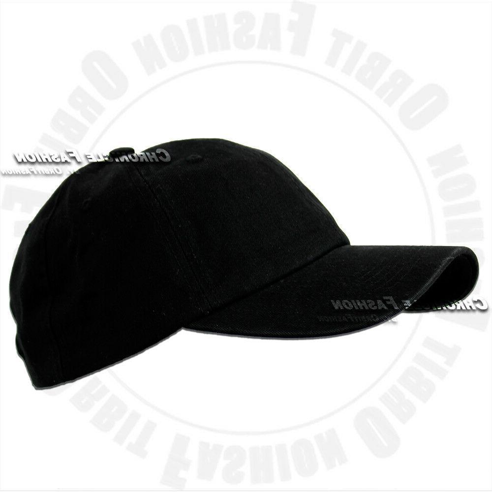 Baseball Polo Adjustable Plain Solid Hat Hats