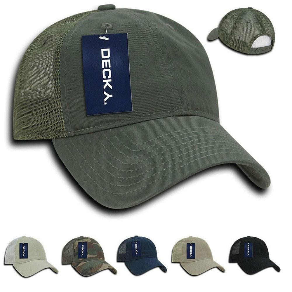 Decky Cotton Relaxed Trucker Baseball Caps Hats 6 Panel Pre