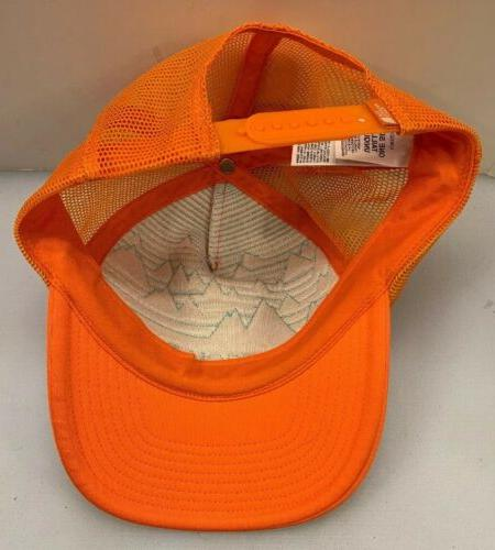 The Cross Stitch Trucker Hat Snap Back Orange Men OSFA