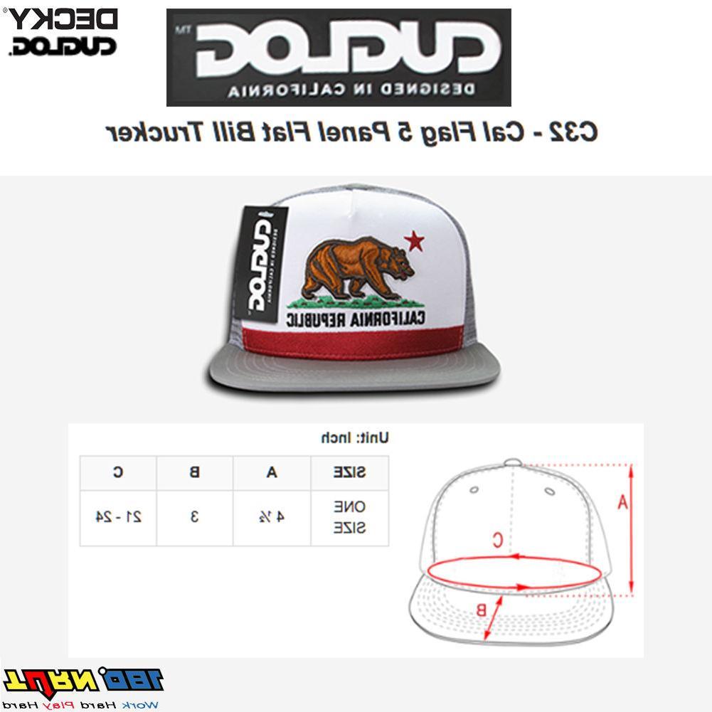 DECKY CUGLOG Mesh Trucker Hat 5 Panel Snapback California