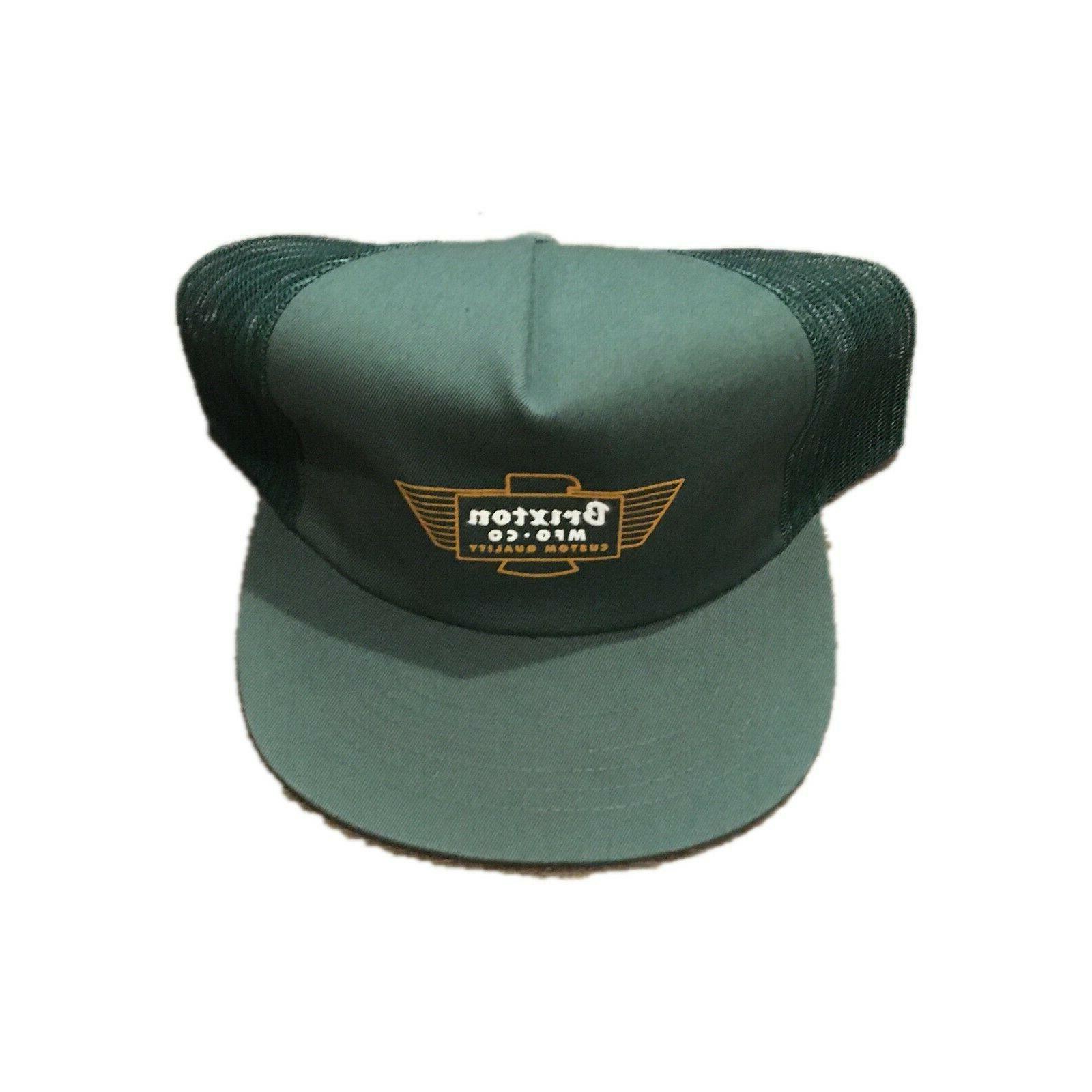cylinder trucker green snapback hat cap mens