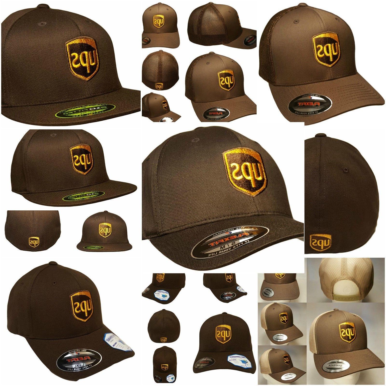 embroidered ups baseball hat ups snapback trucker