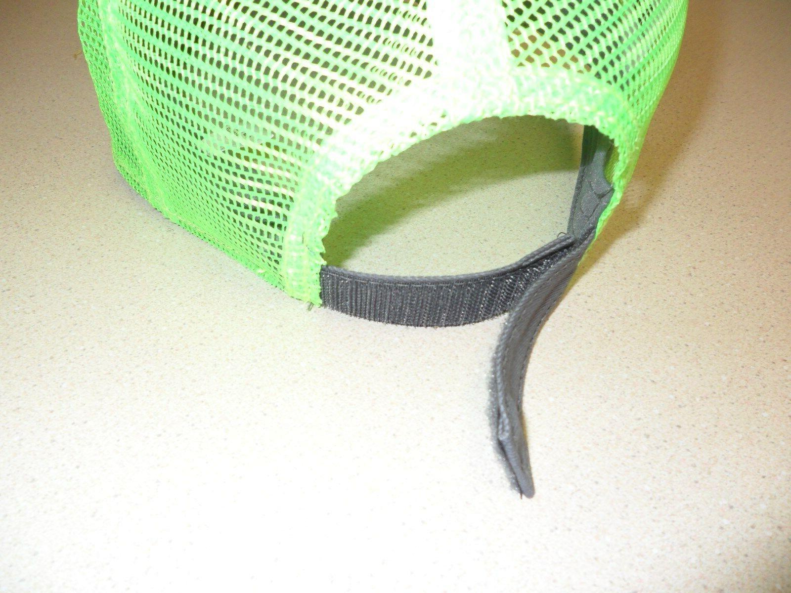 Green CAT logo mesh Trucker Ballcap
