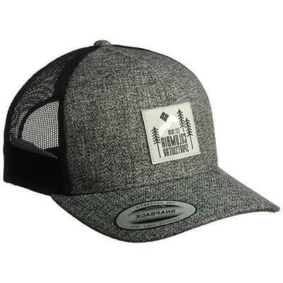 evergreen patch mesh trucker