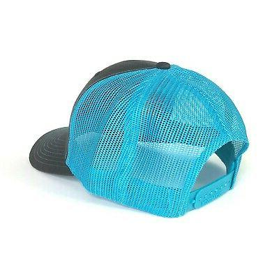 WUE The Outdoors Trucker Colors Charcoal/Cyan Blue