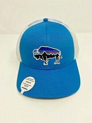 fitz roy bison trucker hat lumi blue