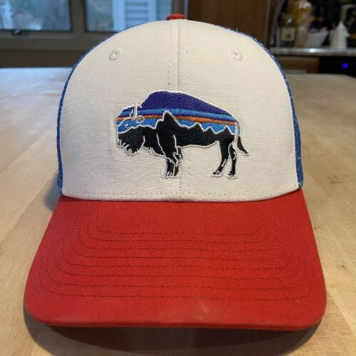 Patagonia Roy Bison Trucker Hat Good White With Fire
