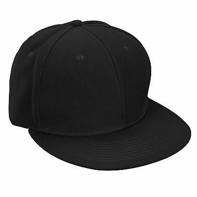 flat billed baseball cap adjustable hat size