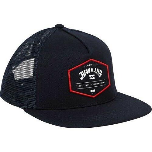 flatwall trucker hat black mens new