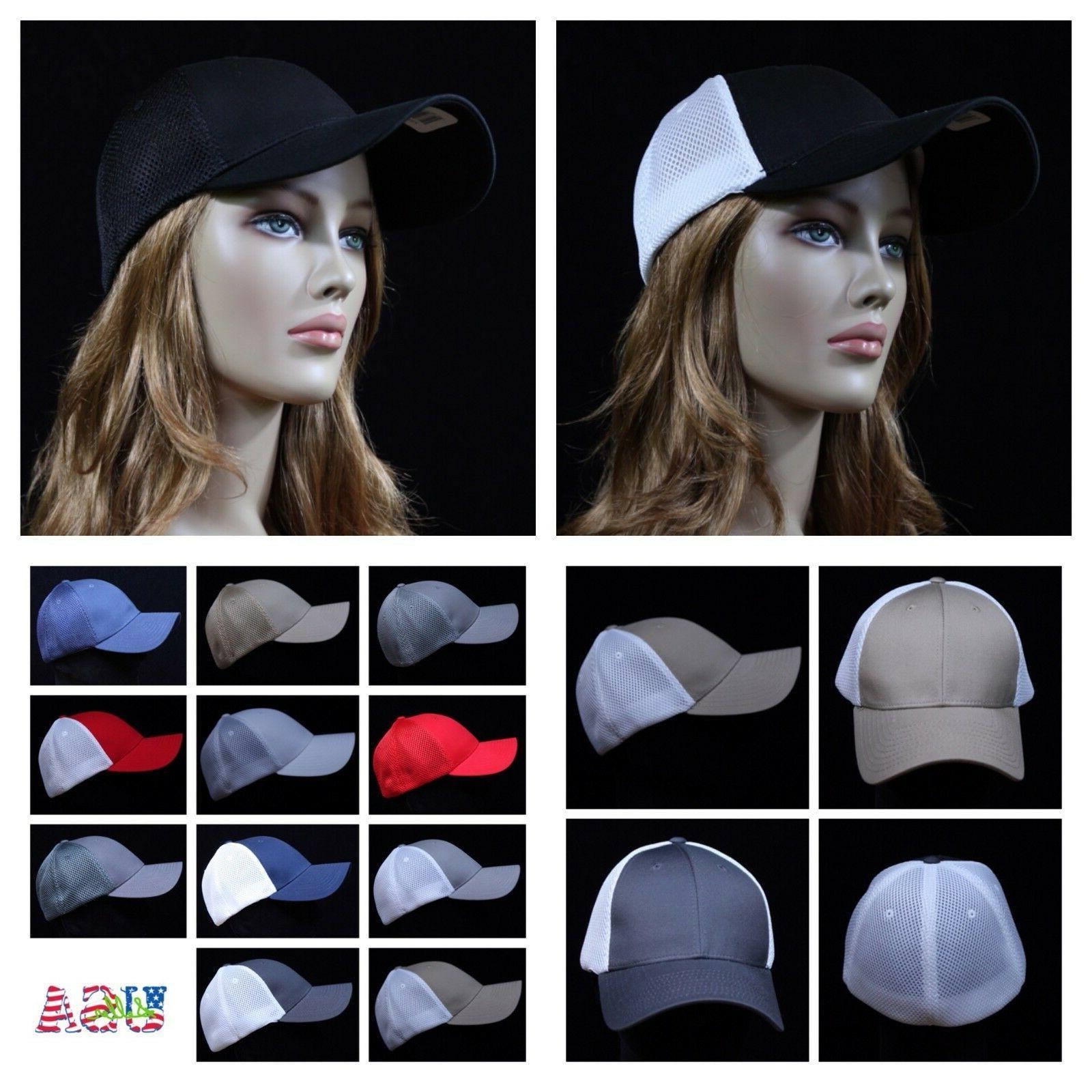 flex fit baseball cap mesh trucker hat