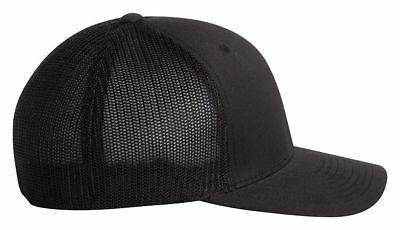 flexfit fitted trucker cap mesh back baseball