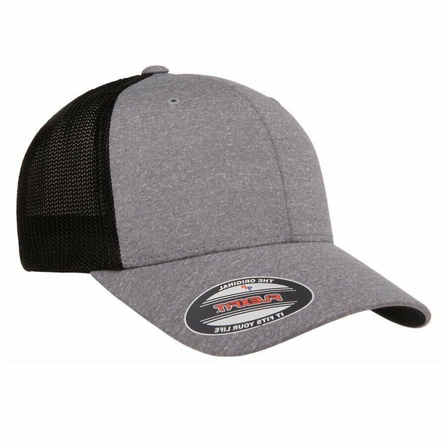FLEXFIT POLY JERSEY STRETCH Dri-fit TRUCKER CAP, YUPOONG,