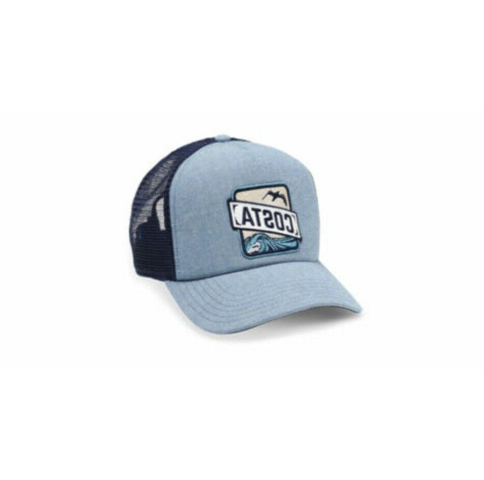 foam front mesh back chambray trucker hat