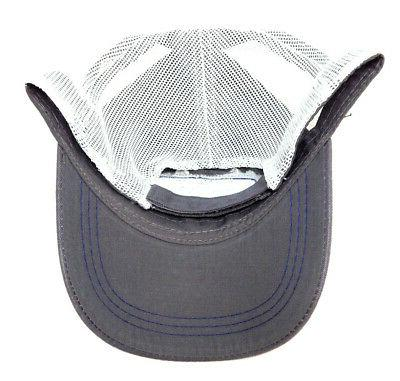 FORD LOGO GREY WHITE MESH CAP CURVED SLOUCH