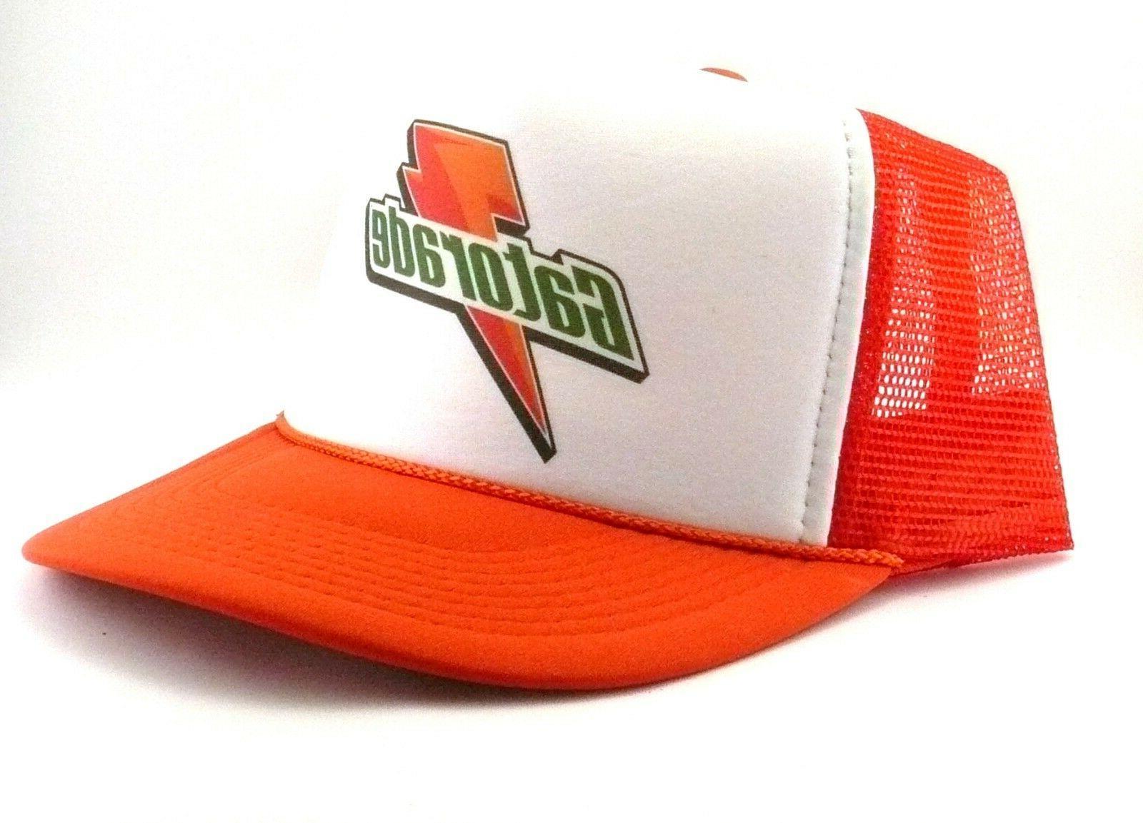 gatorade hat trucker hat mesh hat orange