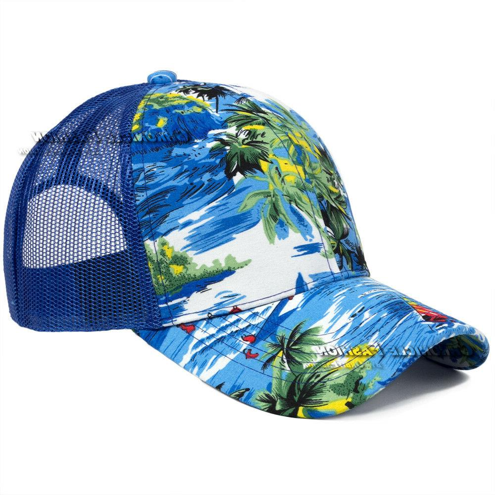 Trucker Tropical Flower Baseball Cap Snapback