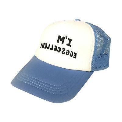 I'm Eggscellent Trucker Hat The Regular Show Cap Rigby Morde