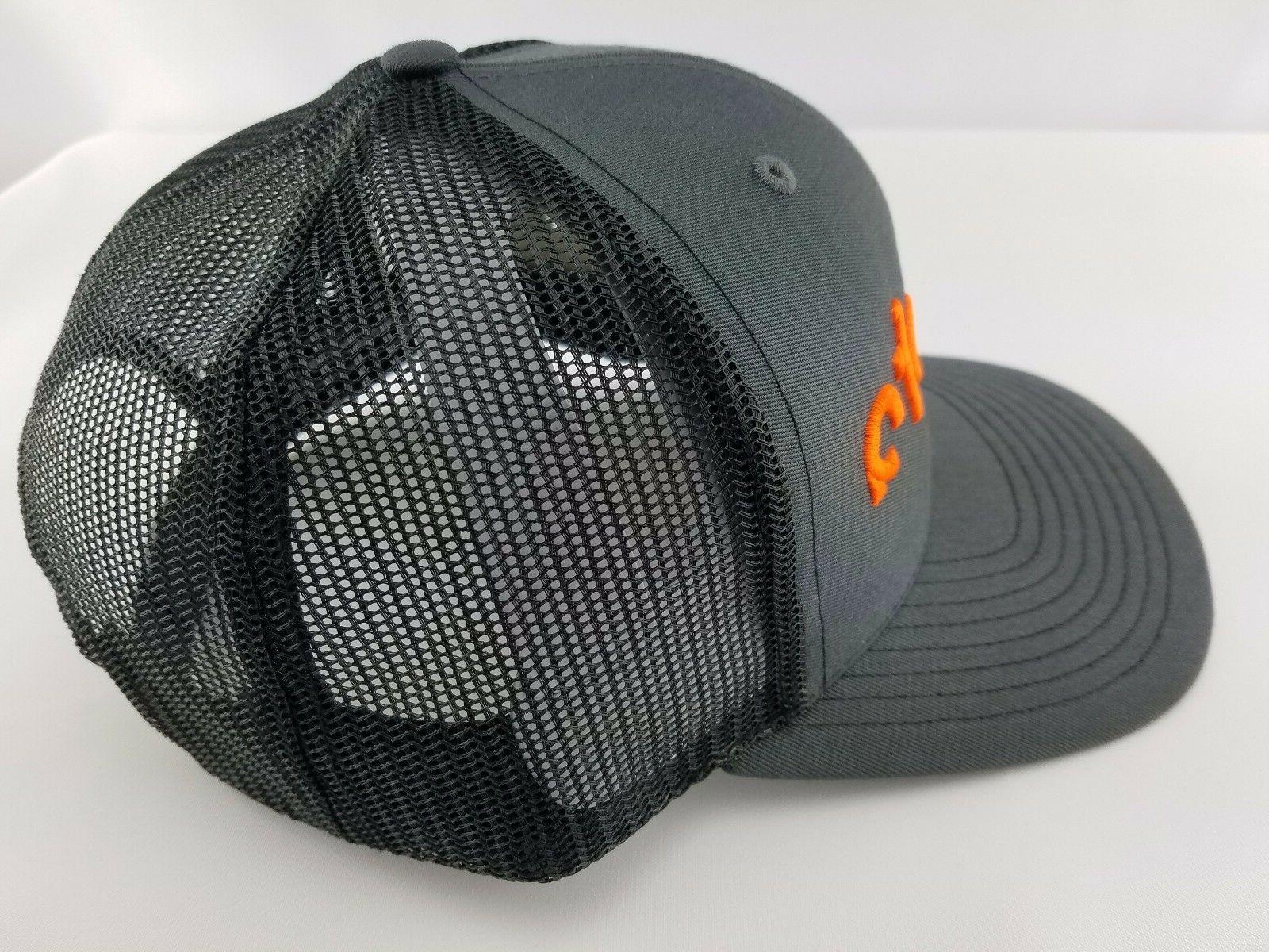 KUBOTA charcoal Black Orange Embroidery 3D