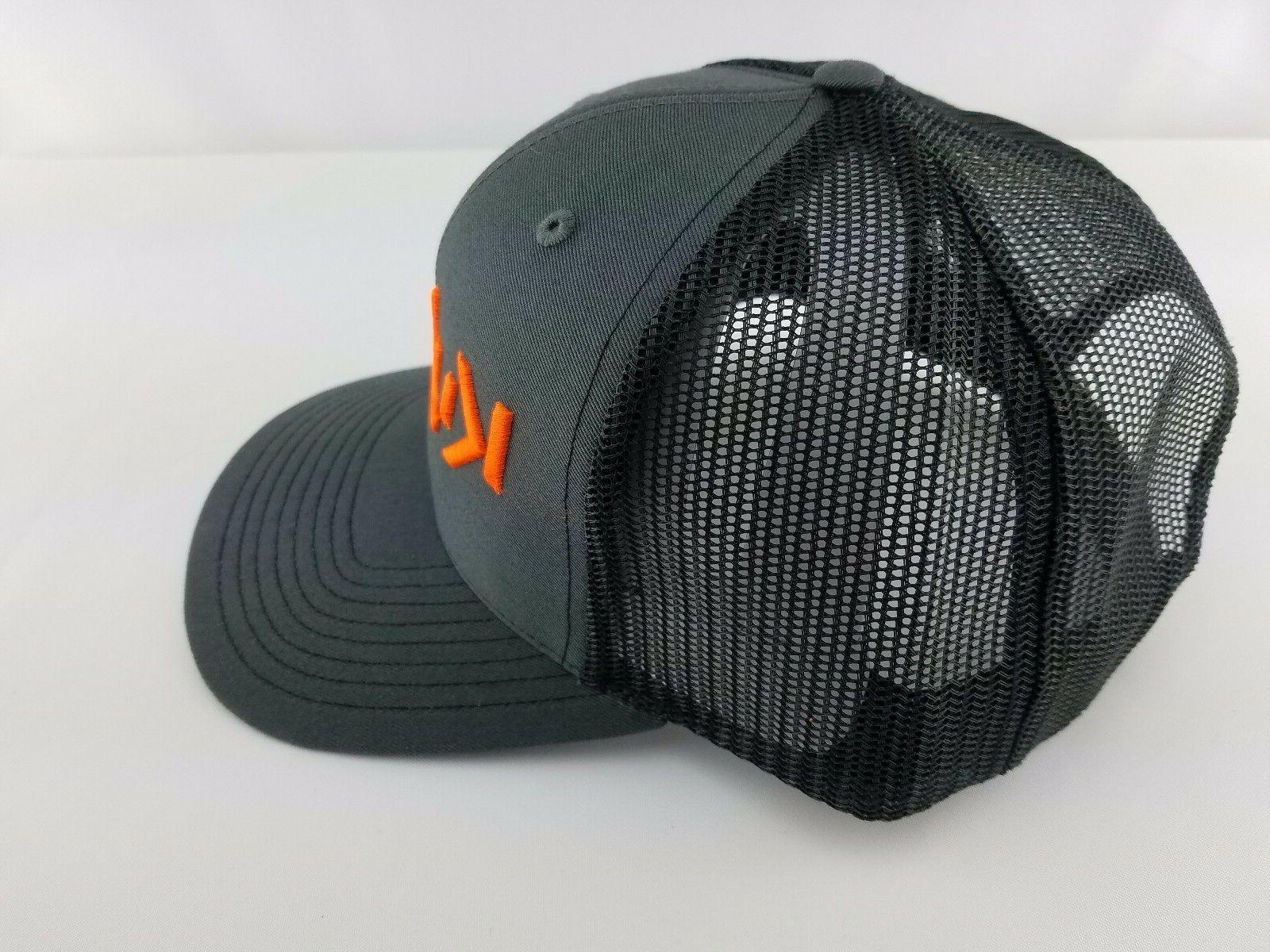 KUBOTA Black CAP Neon Orange
