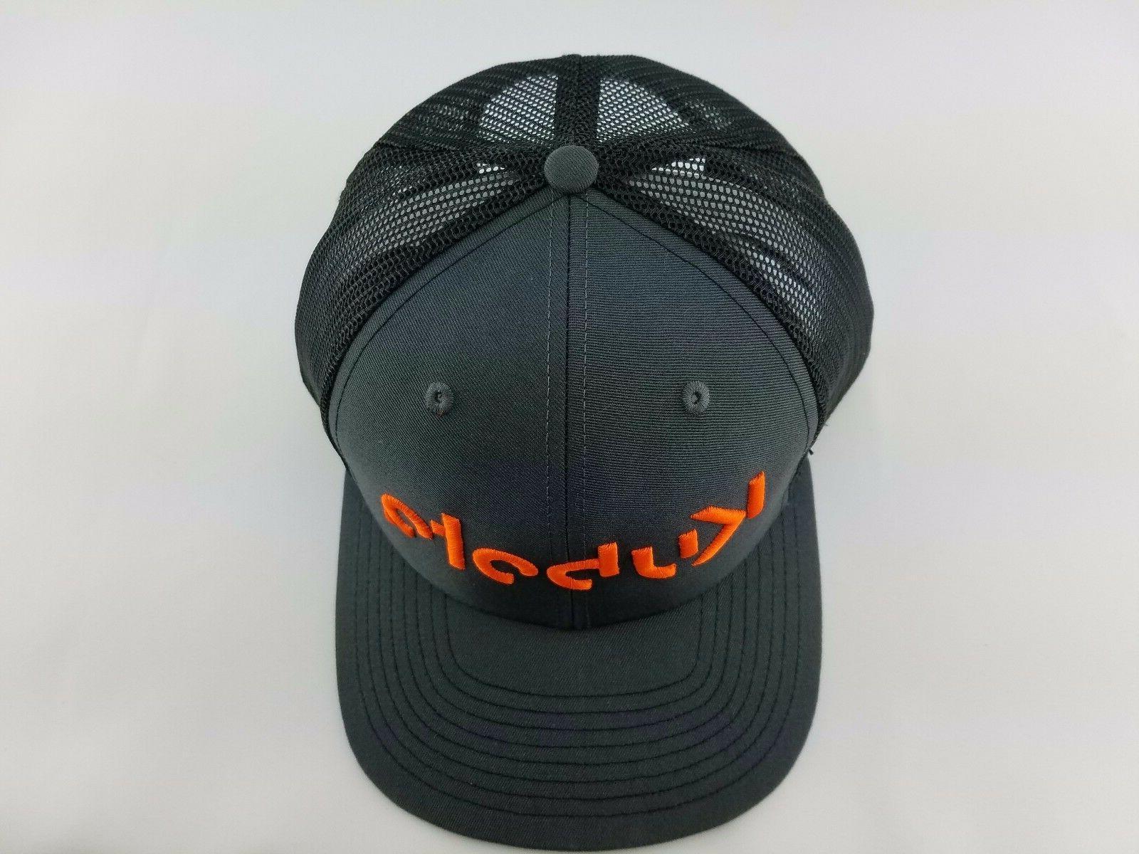 Black CAP Orange Embroidery