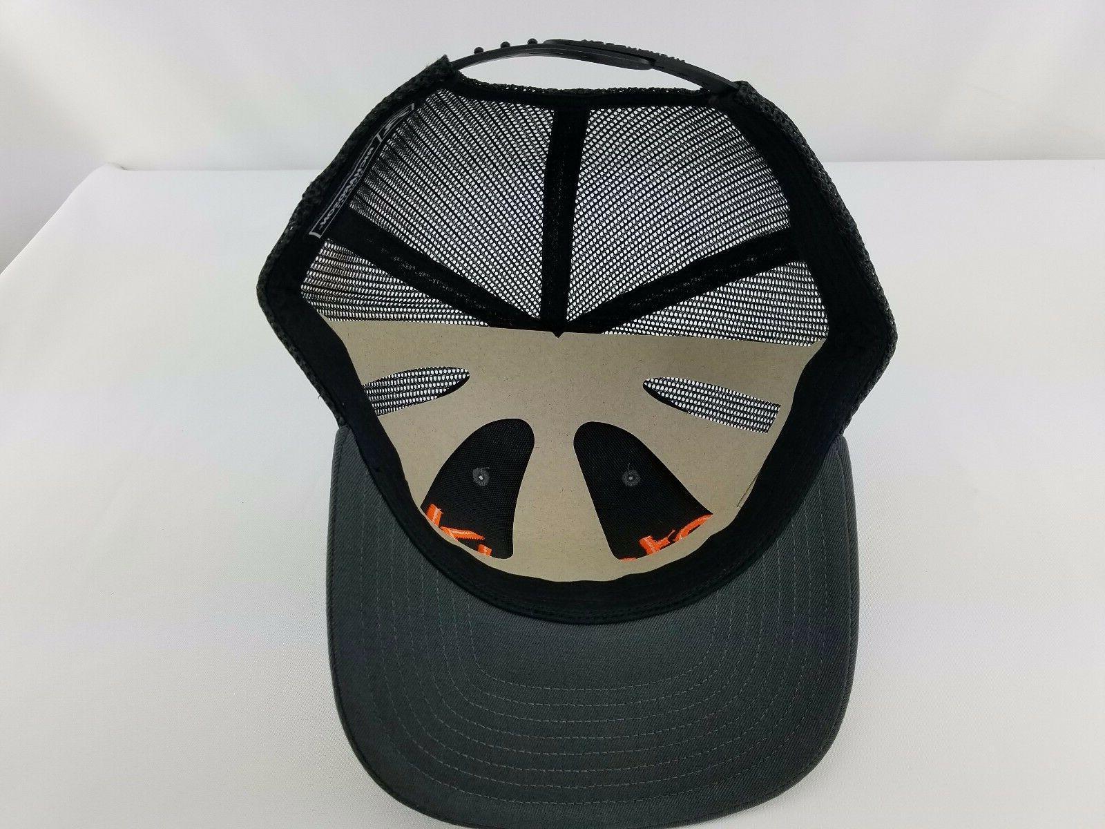 KUBOTA trucker Black Orange Embroidery EMBROIDERED