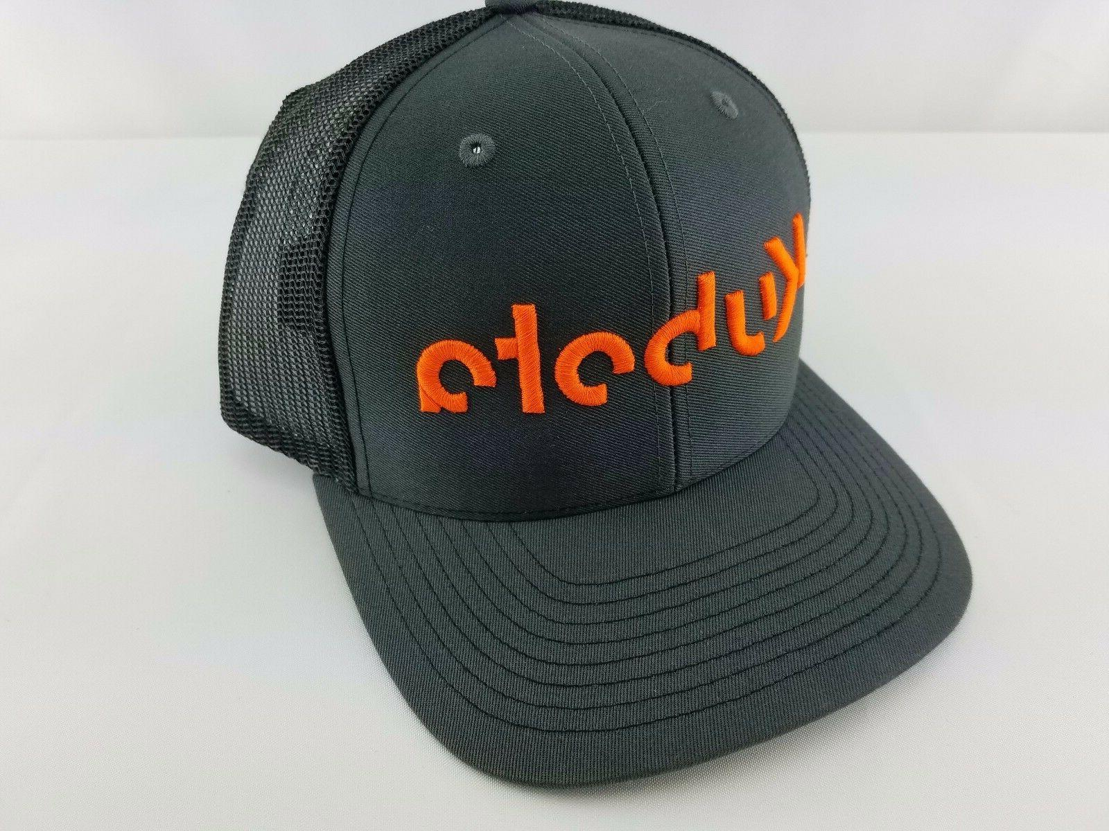 kubota trucker hat charcoal black cap hat
