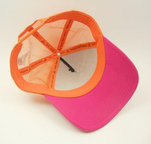 PRANA Cap Hat Orange/Purple/Hot Snap-back U5Viva115