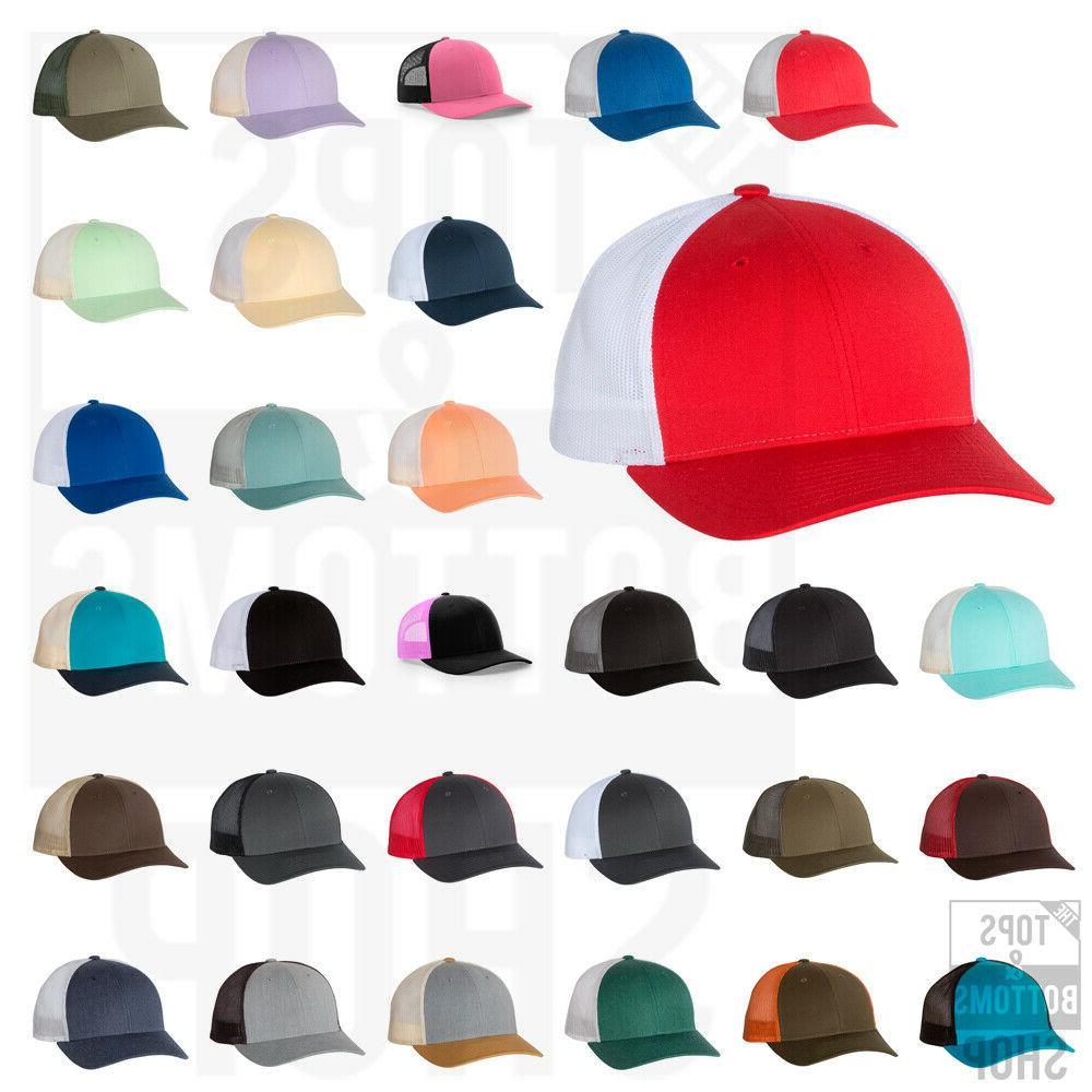 low profile trucker baseball cap meshback hat