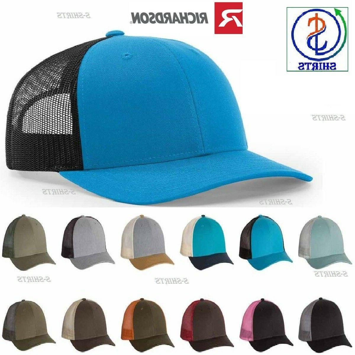 Richardson Low Profile Trucker Caps Men's Hats 115 adjustabl